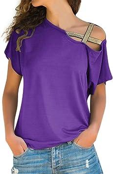 Shirt Mujeres Color Pure Mango Corto Casual Tops Blusa Tamaño ...