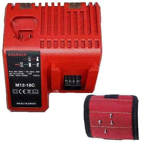 Amazon.com: Milwaukee M12 M18 - Cargador de batería (12 V ...