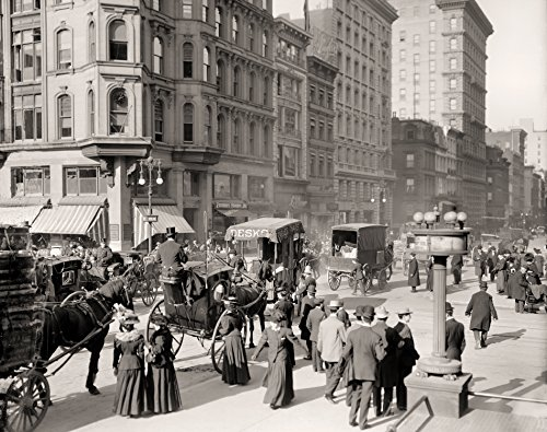 Fifth Avenue At Forty Second Street New York City 1898 Early Rare Reproduction Vintage and Antique Art or Artwork Collection of Old Photos of Cities Like New York or New - City In Avenue York On New Stores 5th