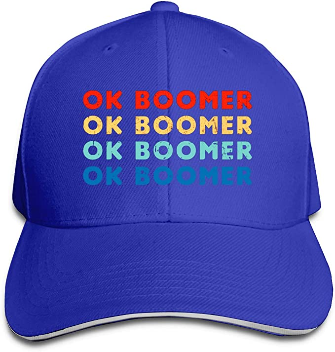 Gen-Z Ok Boomer - Gorra de béisbol Unisex (poliéster) Azul Azul ...