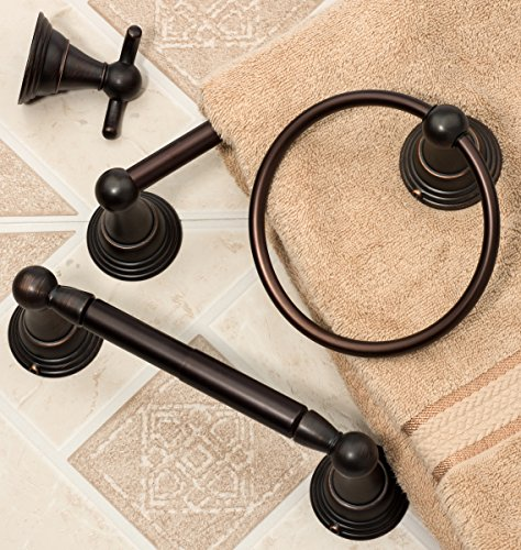 bathroom hardware set oil rubbed bronze 4 piece set with 24 towel bar