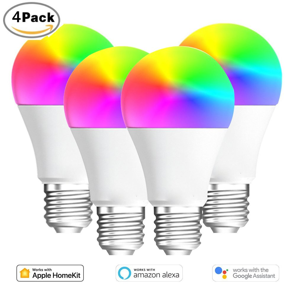 Smart Bulb LED Wifi Alexa LED Intelligente Glühbirne Google Home Smart Glühbirne Wifi RGB Lampe E26,Purple