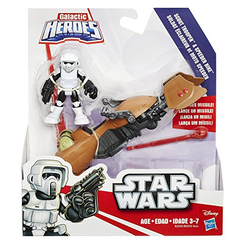 Playskool Heroes Star Wars Galactic Heroes Speeder Bike and Scout Trooper (Star Wars Heroes)