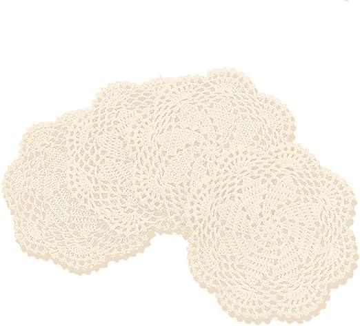 gracebuy 100% algodón Hecho a Mano Crochet Encaje manteles ...