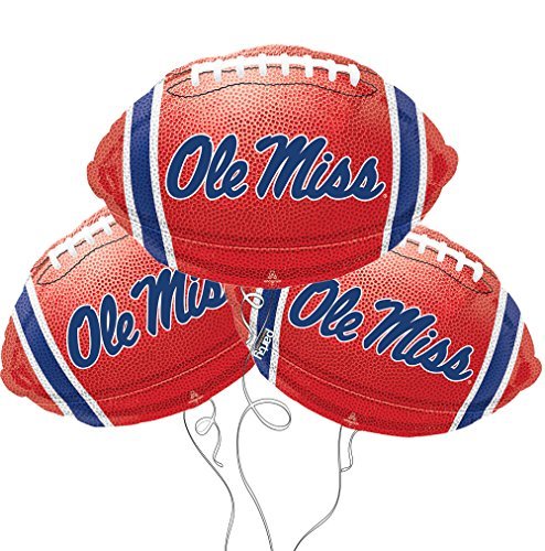 Ole Miss Logo College Football Mylar Balloon - 3 Pack