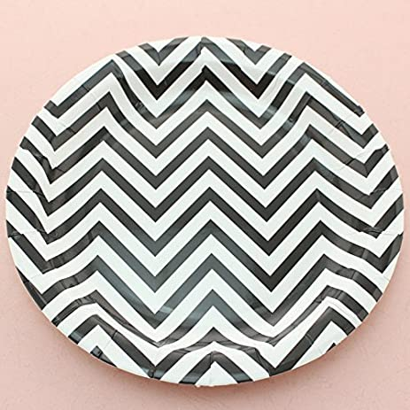 100% Biodegradable Swirly Twirly Paper Plates 7\u0026quot; and 9\u0026quot;- 12 Per Pack  sc 1 st  Amazon.com : black paper plates 100 - pezcame.com
