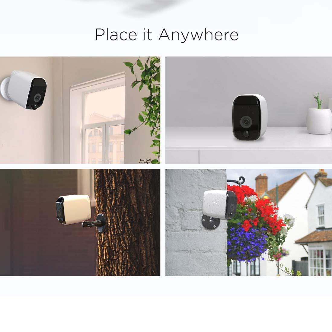 YOMYM Smart Cam/éra de Surveillance HD1080P 100/% sans Fil Vision Nocturne Etanche Int/érieure//Ext/érieure Cam/éra avec Fixations Aimant/ées Fournies Audio bidirectionnel,D/étection de Mouvement