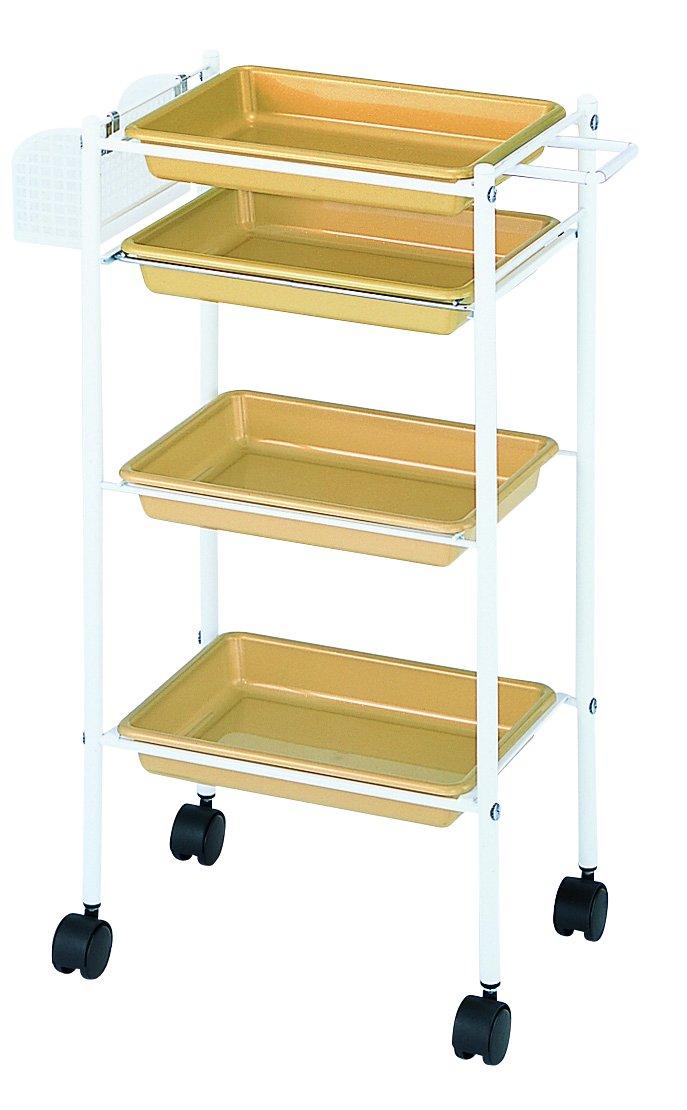 理美容室 トレーワゴン キラキラカラー C305 ゴールド 13525 B010ZMNXU6