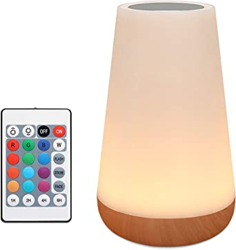 RGB LED Colour Changing Bedside Table Lamp for Bedroom Children Camping Garden