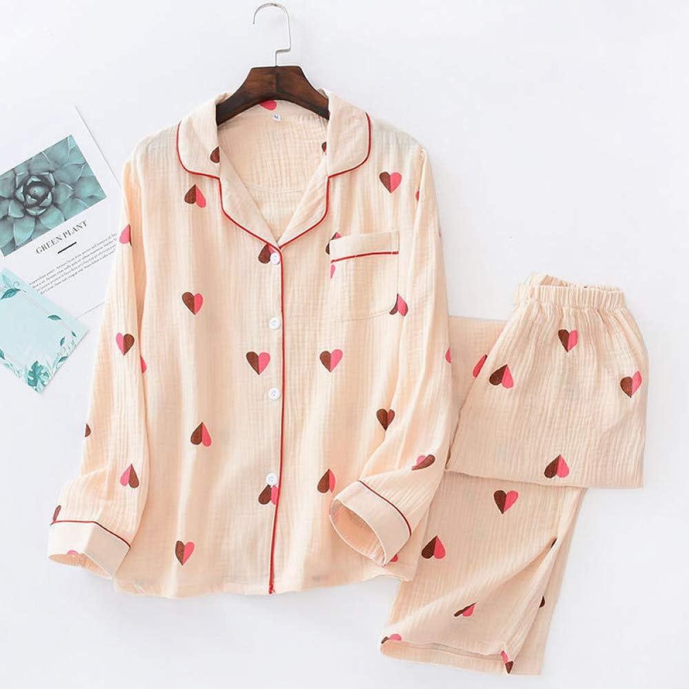 Conjuntos de Pijamas Frescos de Primavera y Verano para Mujer ...