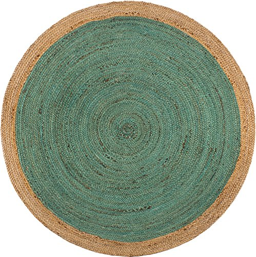 Fab Habitat Essentials: Yellowstone Braided Jute Rug (5' Round) - Teal