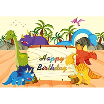 OERJU 2,7x1,8m Cumpleaños Fondo Feliz cumpleaños Mundo de ...