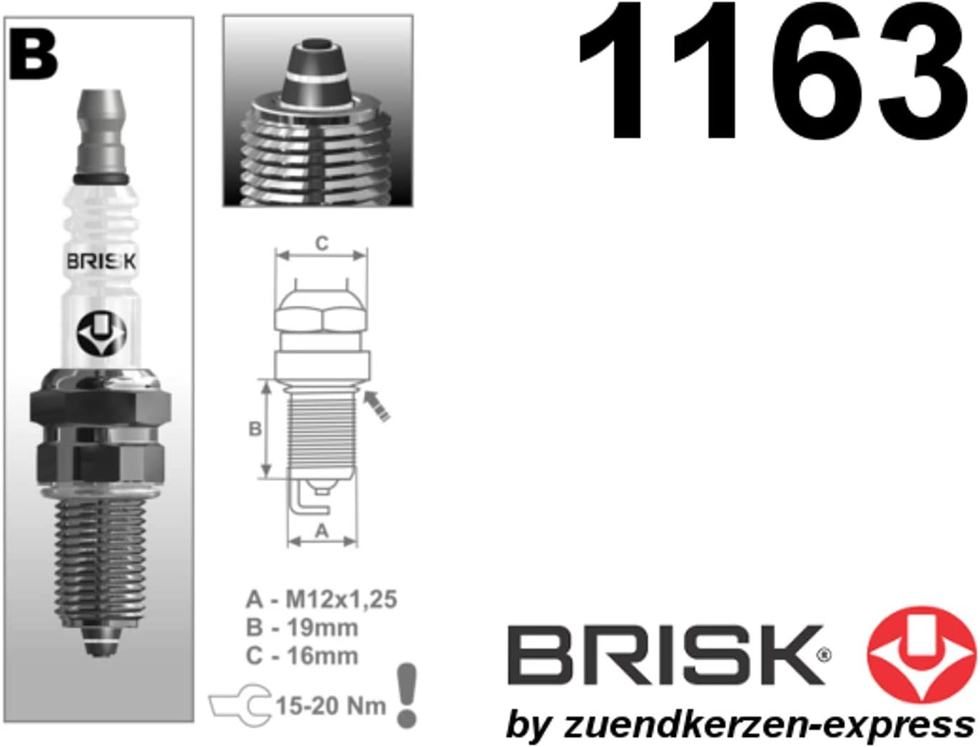 Brisk Premium Racing Br12zc 1163 Zündkerzen 4 Stück Auto