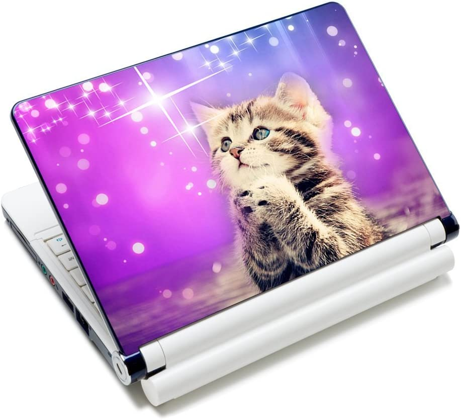 "Laptop Skin Sticker Decal,12"" 13"" 13.3"" 14"" 15"" 15.4"" 15.6 inch Laptop Skin Sticker Cover Art Decal Protector Notebook PC (Cat)"