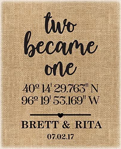 Best Friend Wedding Gift FRAME INCLUDED Latitude Longitude Sign Anniversary Gift Engagement Gift Home Sweet Home Best Friend Gift