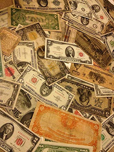 Estate Sale LOT Old Currency Coins Gold Silver Certificate Large Small Money Includes 10+ Rare Pieces of Old US Currency Silver Certificates, Red Seal Bills, Large Size Currency, Star Notes, Gold