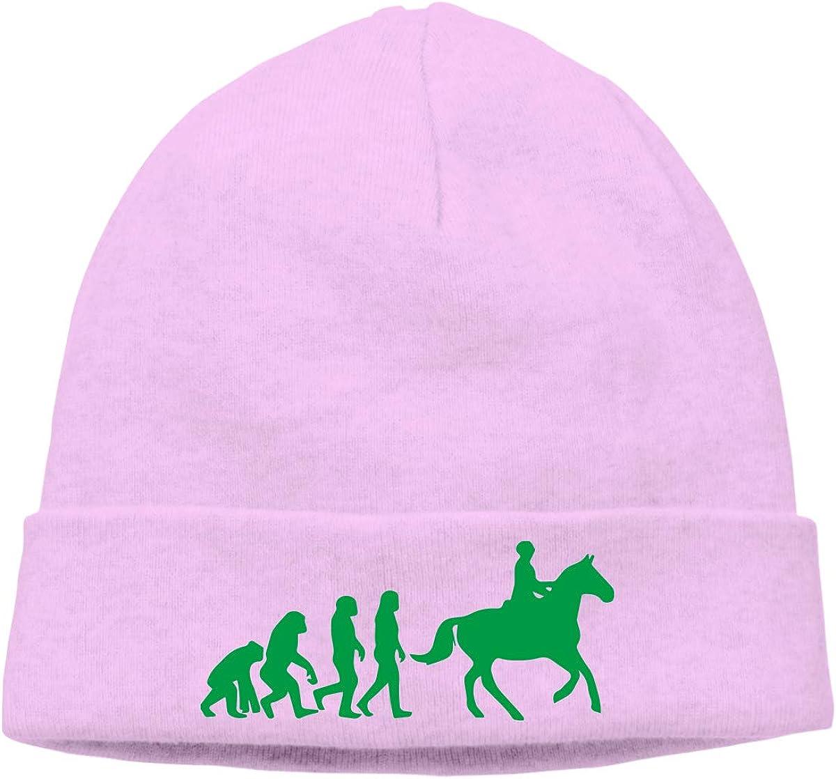 Men Women Evolution Horse Rider Soft Beanie Hat
