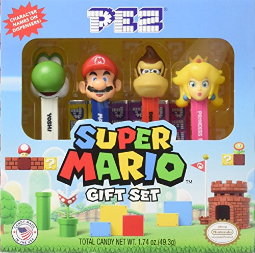Pez Nintendo Super Mario Gift Set - 4 Dispensers with 6 Pez Candy Rolls