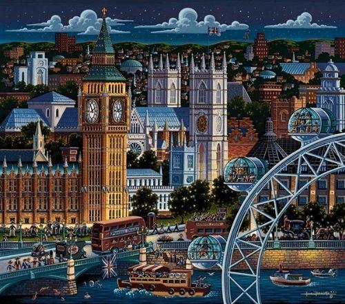Dowdle Folk Art London 500pc 16x20 Puzzles by Dowdle Folk