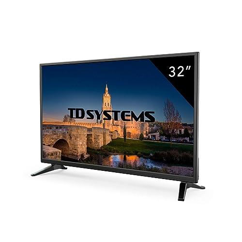 TD Systems K32DLM7H Televisor LED de 32 HD 3X HDMI VGA 2X USB Reproductor y Grabador Color Negro