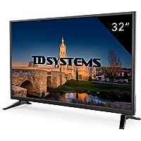 """TD Systems K32DLM7H - Televisor LED de 32"""" (HD, 3X HDMI, VGA, USB Reproductor y Grabador) Color Negro"""