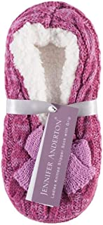 1 Pair Ladies Fleece Lined Super Soft Knitted Slipper Gift/Present avail. in 2 sizes / 3 colours