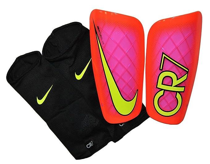 5a40c66d446 Football Nike MERCURIAL LITE CR7 RONALDO CALCIO Parastinchi Shin Pads BLACK  Crimson Red