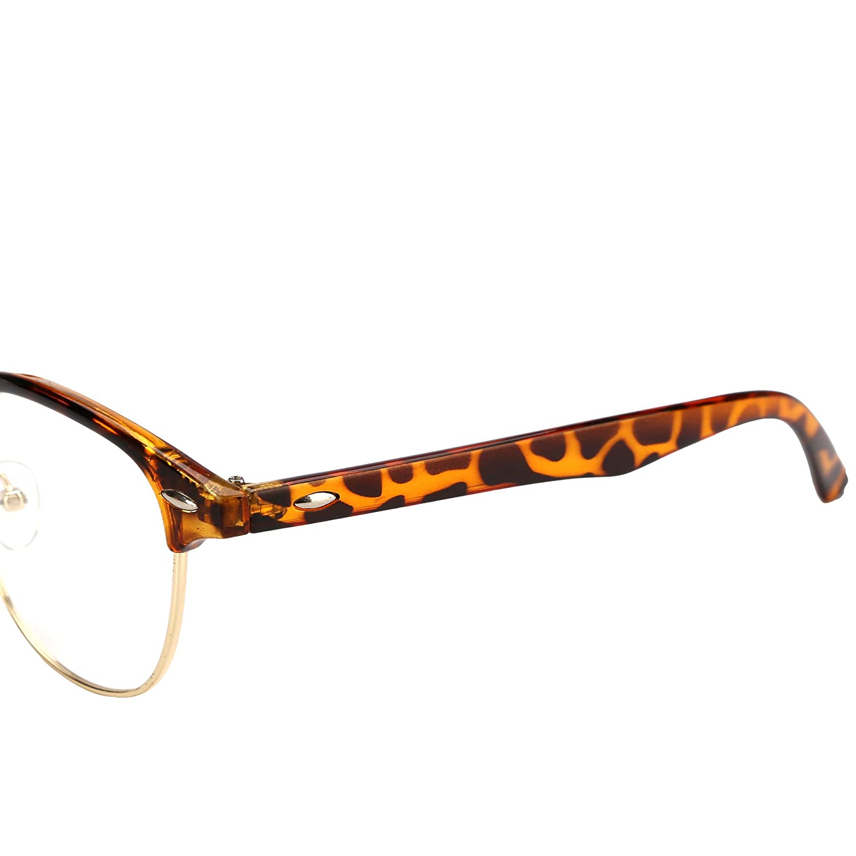 LIANSAN Classic Clubmaster rimless Glasses Non-Prescription Clear Lens Eyewear LSPZ8056