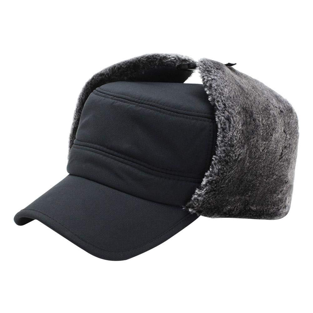 a Prueba de Viento Impermeable y Transpirable Piel sint/ética Sombrero de Caza Ushanka ParZ Sombrero de Invierno con Orejeras V/álvula de respiraci/ón Sombrero de Soldado Trooper Mascarilla Desmontable