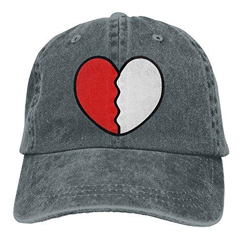Pyeyo Heart Broken Adjustable Cowboy Style Baseball Cap Hat for Unisex Adult