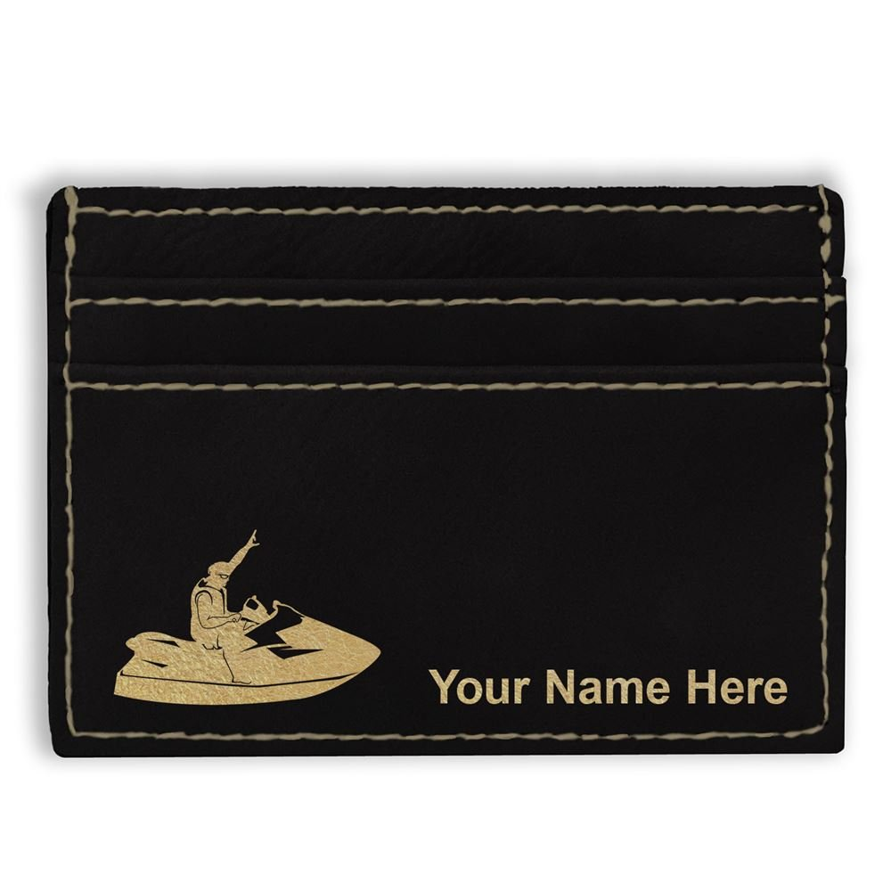 Money Clip Wallet Jet Ski Personalized Engraving Included