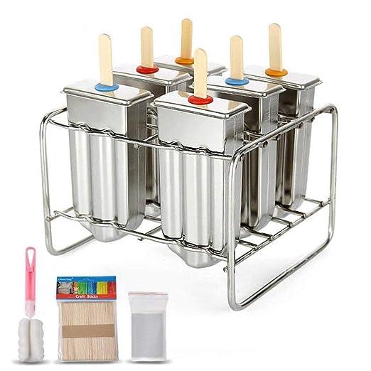 JIALI - Moldes de paletas de helado reutilizables con bandeja y ...