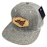 Hecho En Mexico Emblem Hat Straw Woven Black, Grey Snapback Mesh Trucker Flat Bill Cap