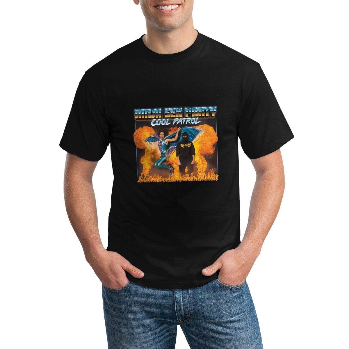 Ninja Sex Party Band T Shirt Men's Stylish Short Sleeves Round Neck Tops
