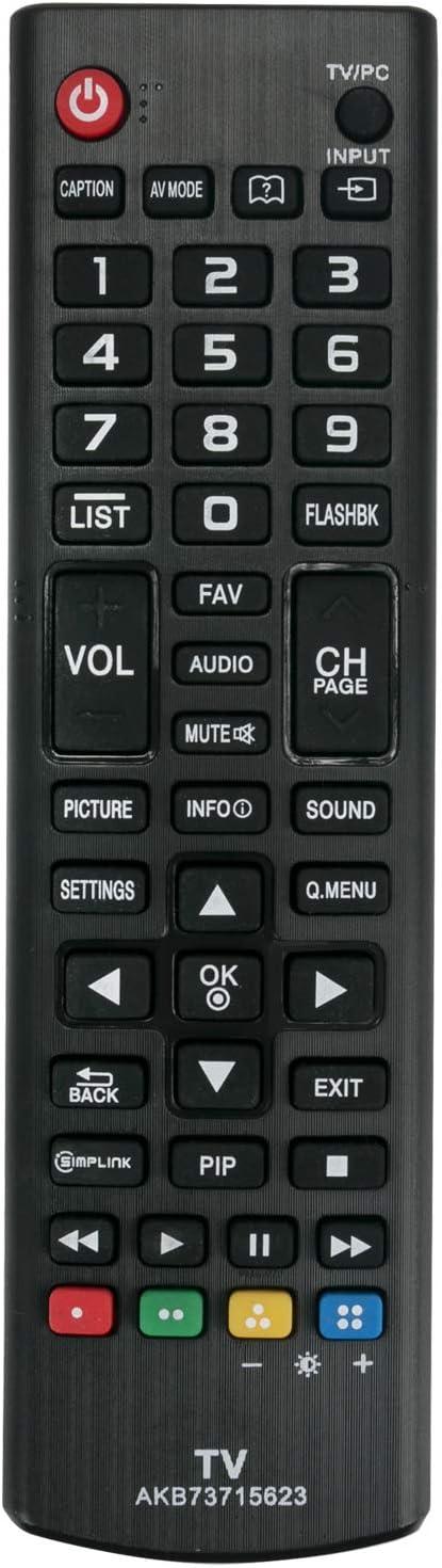 ECONTROLLY New Remote Control AKB73715623 for LG LED HDTV 22LN4510-PU 29LN4510-PU 22LN4510 22LN4500 22LN4510 24LN451B 24LN451L4909 43PFL4609 50PFL4909 55PFL4609 55PFL4909 58PFL4609 58PFL4909 65PFL4909