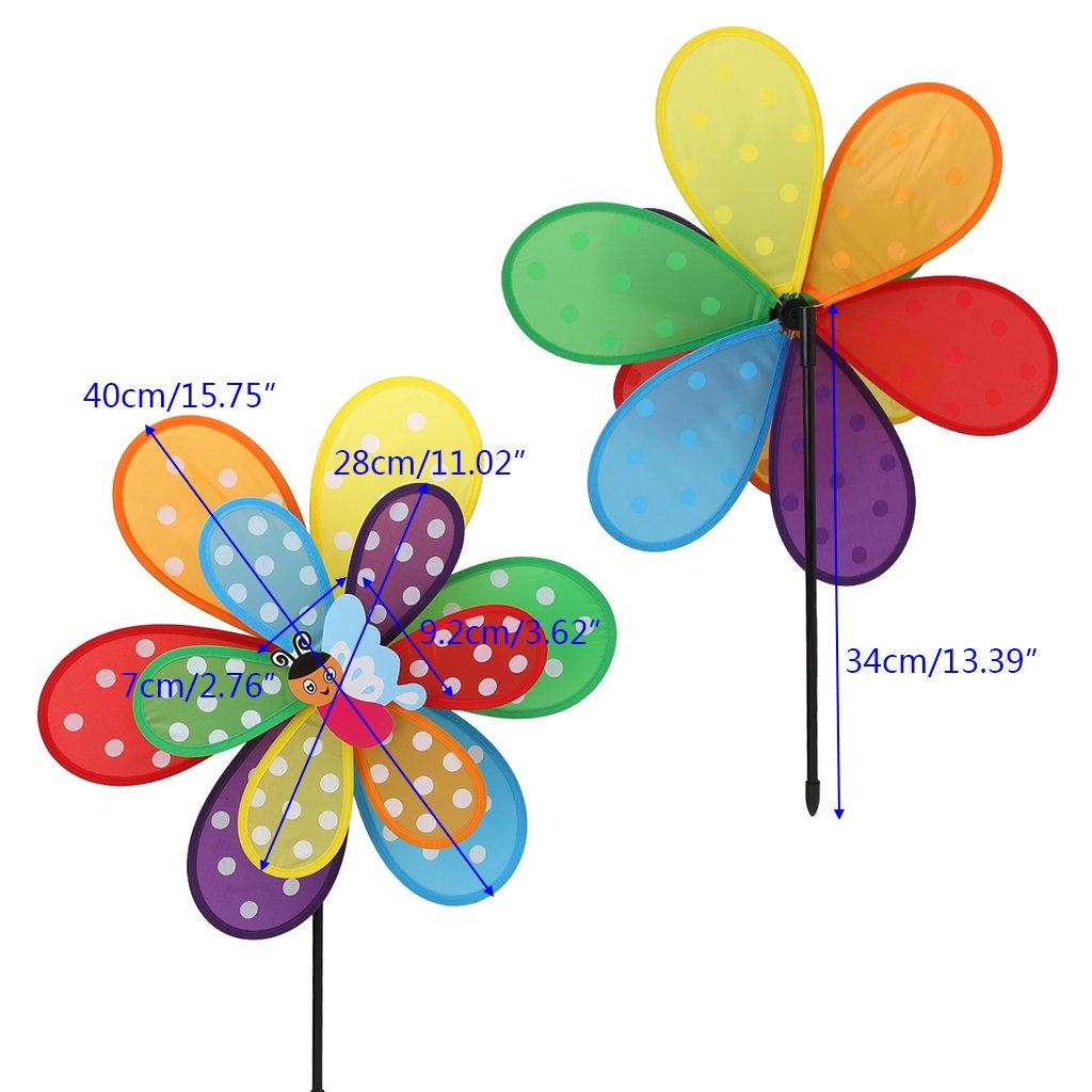Garden//Patio//Balcony Decoration Toy for Children Exing Windmill Pinwheel Wind Spinner Plastic 34 cm x 40