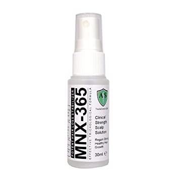 mnx-365 máxima fuerza Minoxidil libre pérdida de cabello tratamiento Spray eficaz clínicos fórmula pérdida
