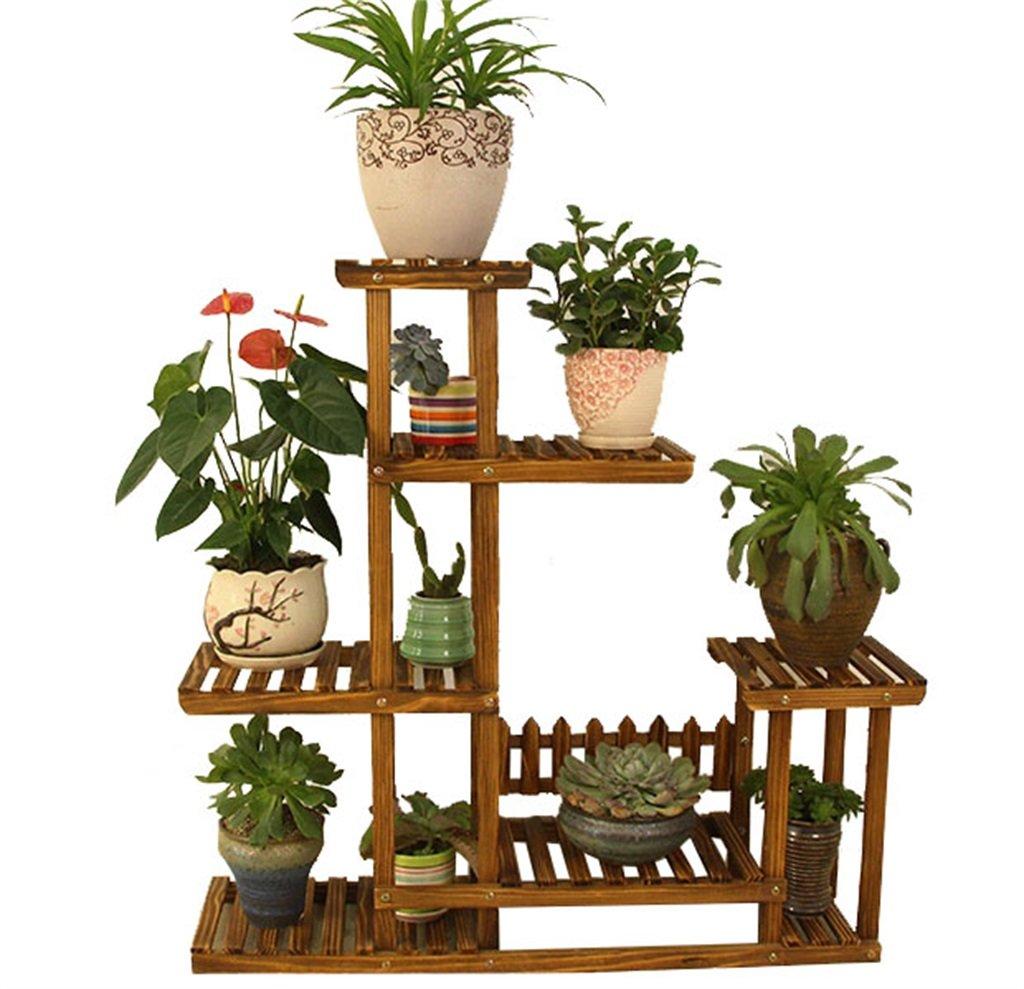 fino al 50% di sconto LQQGXL Supporto di Fiore di Legno Solido anticorrosivo, scaffale di di di stoccaggio della pianta del Fiore del Multi-Strato del Pavimento, Vaso di Fiore Decorativo dei Bonsai, Stand di Fiori  prezzi più bassi