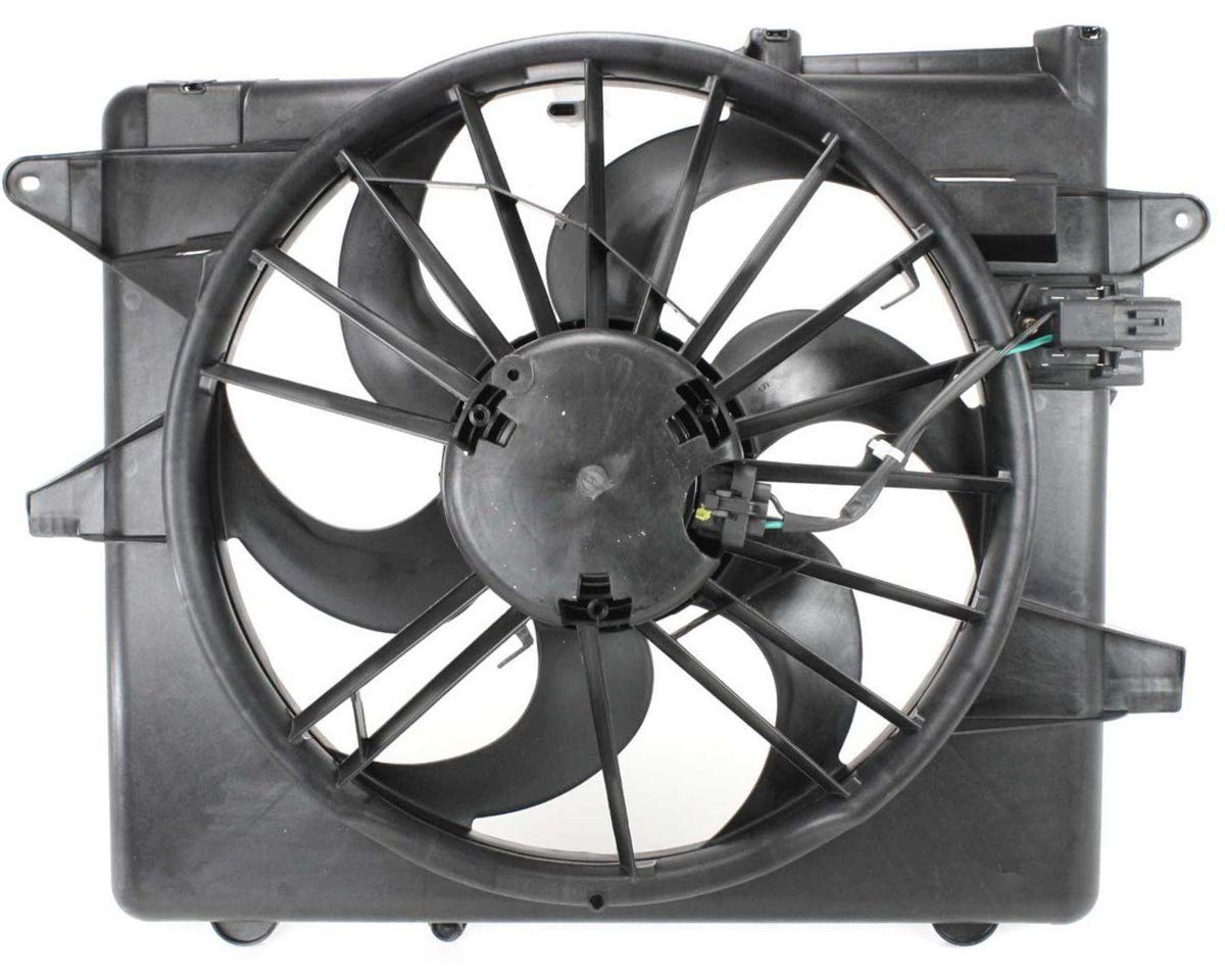 Sunbelt Radiator And Condenser Fan For Ford Mustang FO3115152 Drop in Fitment