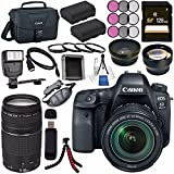 Canon EOS 6D Mark II DSLR Camera with 24-105mm f/3.5-5.6 Lens 1897C021 + Canon EF 75-300mm III Lens + LPE-6 Lithium Ion Battery + 128GB SDXC Card + Canon 100ES EOS shoulder bag + Tripod + Flash Bundle