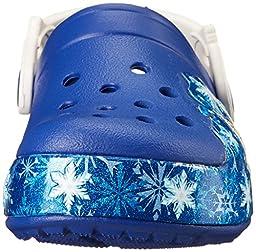 crocs Kids\' CrocsLights Frozen Light-Up Clog (Toddler/Little Kid), Cerulean Blue/Oyster, 9 M US Toddler