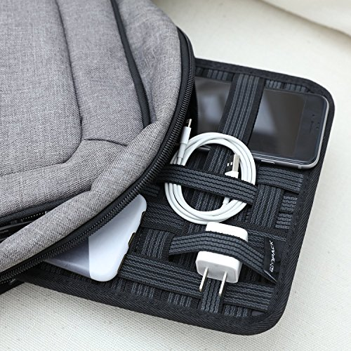 Kopack Electronics Organizer Board Cord Gadget Organizer With Storage bag for Power Bank/Charging Cable/Digital Device by kopack (Image #2)