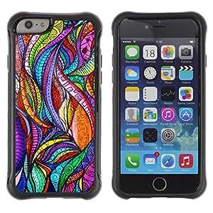 Suave TPU GEL Carcasa Funda Silicona Blando Estuche Caso de protección (para) Apple Iphone 6 / CECELL Phone case / / Leaves Nature Art Glass Floral /