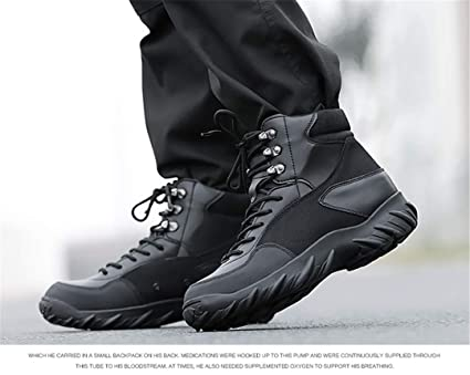 12548058b6aba Amazon.com: Outdoor Hiking Shoes Men Tactical Army Mens Hiking Boots ...