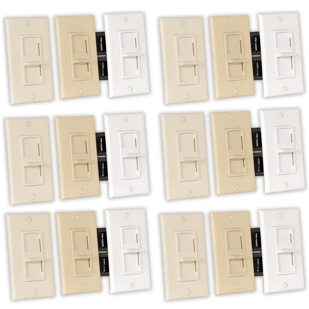 Theater Solutions TSVCS Indoor Speaker Volume Controls 3 Color Slide Audio Switches 6 Piece Pack