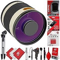 Opteka 500mm f/6.3 (w/2x Converter 1000mm) Telephoto Mirror Wild Life Lens for Canon EOS 80D, 77D, 70D, 60D, 7D, 6D, 5D, 7D Mark II, T7i, T6s, T6i, T6, T5i, T5, SL1 & SL2 Digital SLR Cameras