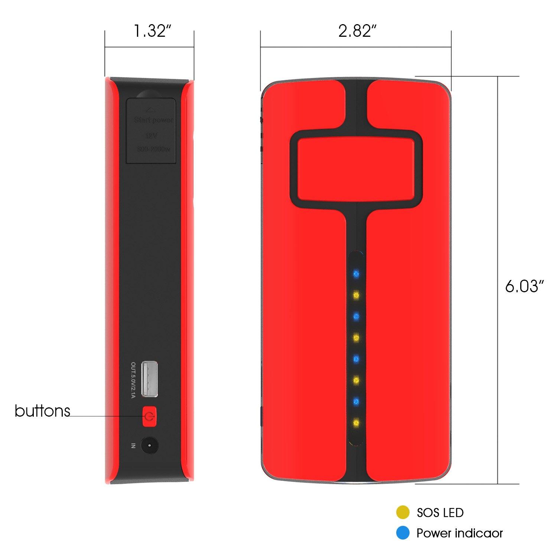 Maxoak Portable mah Handy Car Jump Starter Battery Charger