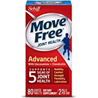 80-Count Move Free Triple Strength Glucosamine Chondroitin and Hyaluronic Acid Joint Supplement