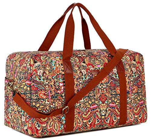 0f2e3b1d38ac BAOSHA HB-32 Canvas Travel Duffel Bag Weekender Overnight Bag Carry on  Oversized for Ladies Women (Colour)
