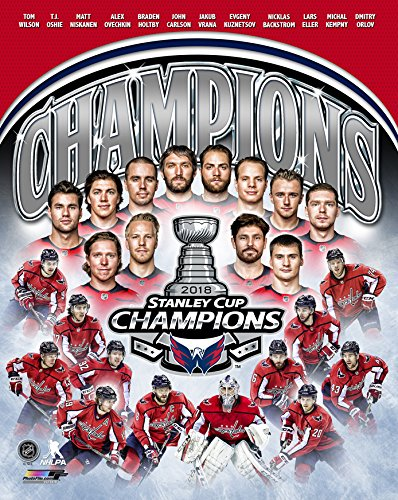(Washington Capitals 2018 Stanley Cup Campions, Braden Holtby & Alex Ovechkin Team Collage 8x10 Photo Picture )